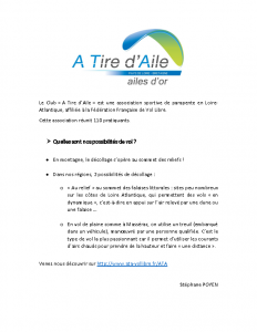 Association  à Tire d'Aile